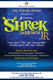 SHREK JR. THE MUSICAL April 2017